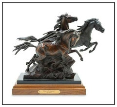 Ken Payne Bronze Horse Sculpture Sons Of Pegasus Signed Western Animal Artwork