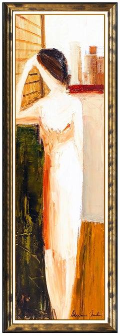 Adriana Naveh Large Original Painting Acrylic On Canvas Female Portrait Artwork