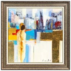 Adriana Naveh Original Acrylic Painting On Canvas Landscape Portrait Artwork SBO