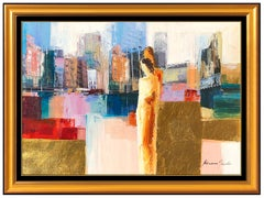 Adriana Naveh Original Oil Painting Large Figurative Landscape Art Signed Canvas