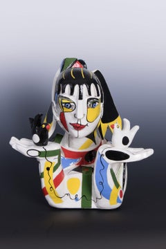 The Perfectionist (Cubism ceramic sculpture based on Enneagram personalities)