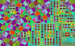 Pattern Set #1 (Bright, abstract, digital painting, dye sublimation on aluminum)