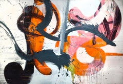 Jazz (Bright vivid lush abstract expressionist painting with movement)