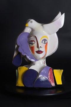 The Caregiver (Cubism ceramic sculpture based on Enneagram personalities)