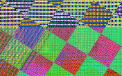 Pattern Set #8 (Bright, abstract, digital painting, dye sublimation on aluminum)