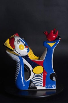 The Questioner (Cubism ceramic sculpture based on Enneagram personalities)
