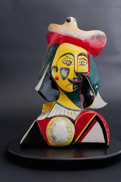 The Creative (Cubism ceramic sculpture based on Enneagram personalities)