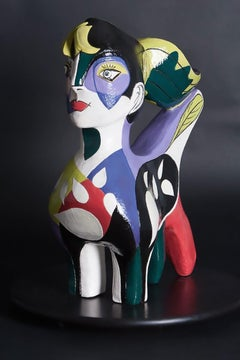 The Experimenter (Cubism ceramic sculpture based on Enneagram personalities)