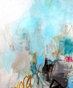 Coastal Rhythms (Expressionist, Abstract, blue, painting, Acrylic, Canvas)