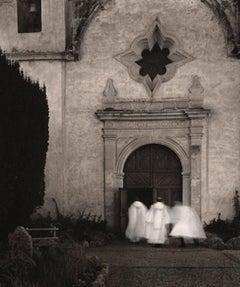 Christmas Mass, Carmel Basilica Mission Sepia Toned Original Silver