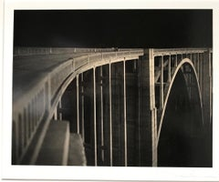 Bixby Bridge, Big Sur California, Night Shot, Sepia Toned Silver Gelatin