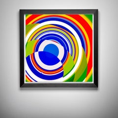 Jelcoba_ Spiral _ Glitch _20, 24 x 24, 1/ 200 ed. (unframed)