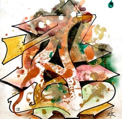 """Kelography Letters (Graffiti """"A"""" Urban Graphic) / Limited ed. 25"""