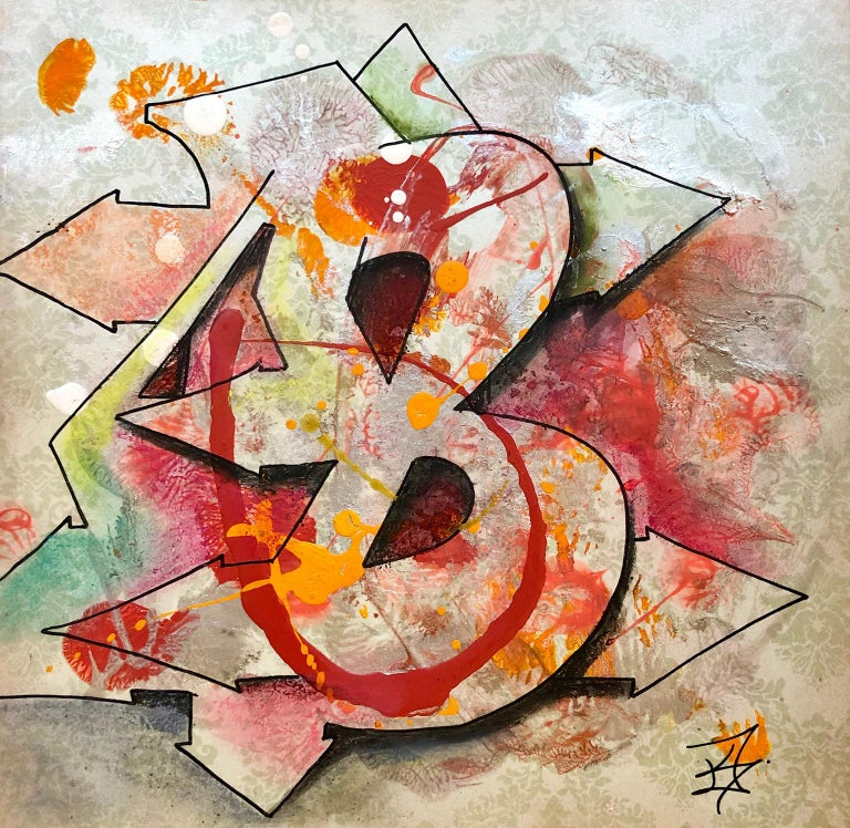 """Kel1st Abstract Print - Kelography Letters (Graffiti """"B"""" Urban Graphic) / Limited ed. 25"""