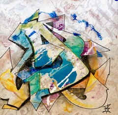 """Kelography Letters (Graffiti """"D"""" Urban Graphic) / Limited ed. 25"""