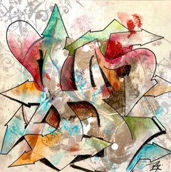 """Kelography Letters (Graffiti """"H"""" Urban Graphic) / Limited ed. 25"""