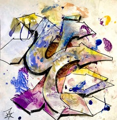 """Kelography Letters (Graffiti """"Y"""" Urban Graphic) / Limited ed. 25"""