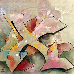 """Kelography Letters (Graffiti """"X"""" Urban Graphic) / Limited ed. 25"""