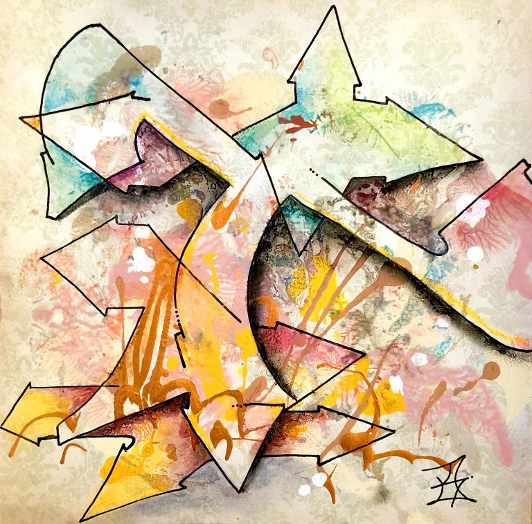 """Kel1st Abstract Print - Kelography Letters (Graffiti """"T"""" Urban Graphic) / Limited ed. 25"""