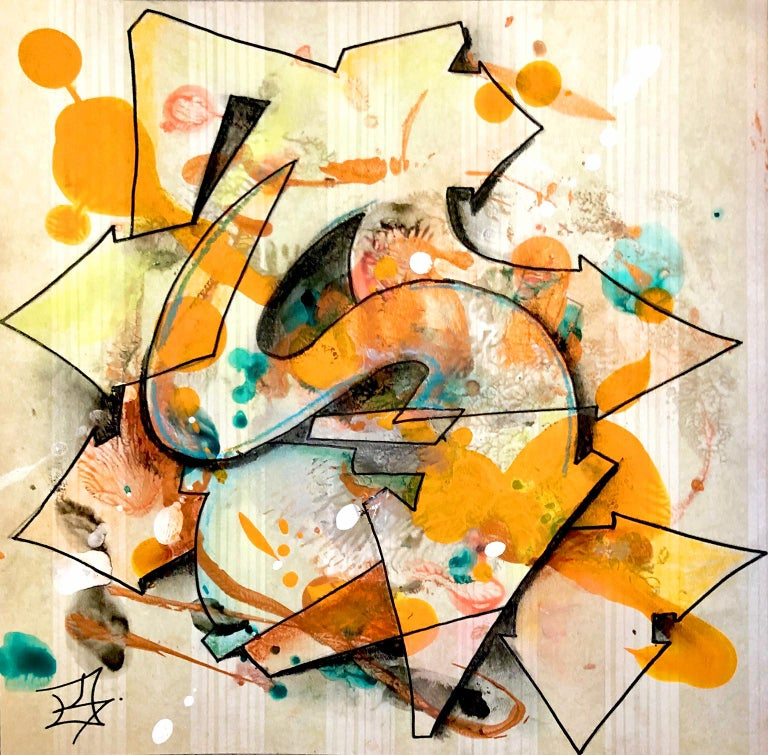 """Kel1st Abstract Print - Kelography Letters (Graffiti """"S"""" Urban Graphic) / Limited ed. 25"""