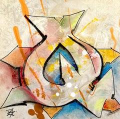 "Kelography, Abstract Print,  (Graffiti ""Q"" Urban Street Art) / Limited ed. 25"