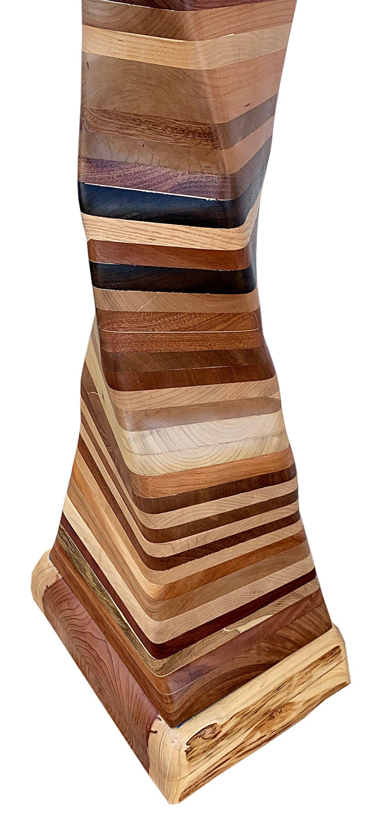 Undulating Wood Sculpture, Untitled 2019 - Brown Abstract Sculpture by Ben Darby