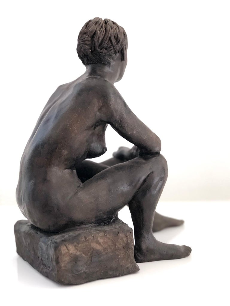 Untitled, Nude Seated Female Sculpture For Sale 2