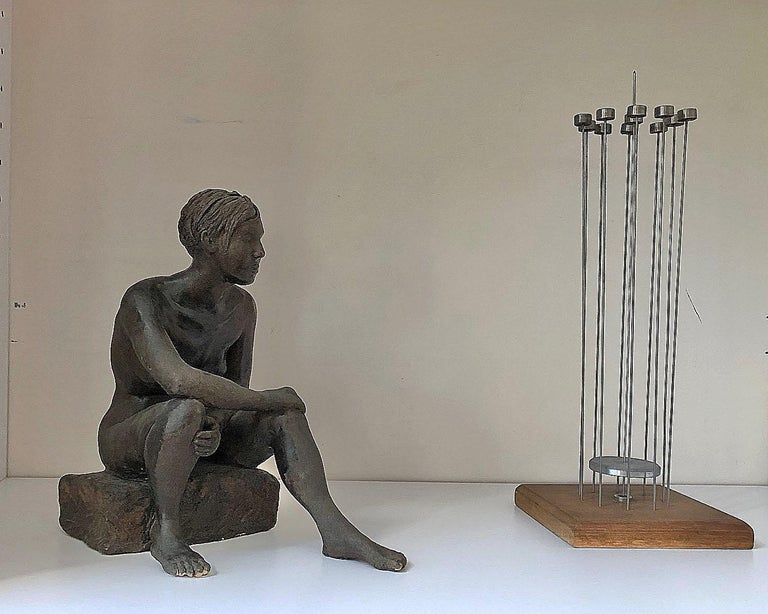 Untitled, Nude Seated Female Sculpture For Sale 3