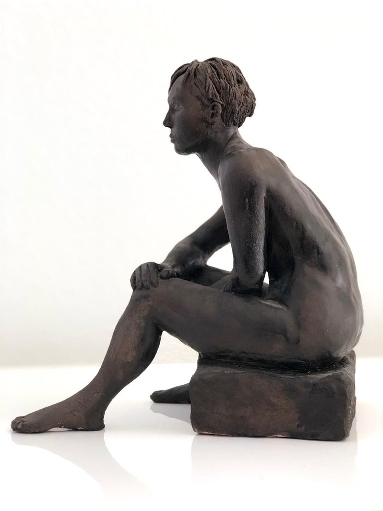 Untitled, Nude Seated Female Sculpture For Sale 4