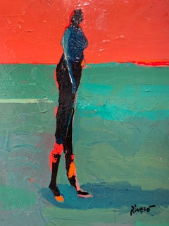Untitled, Figure on Red and Green
