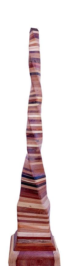 Undulating Wood Sculpture, Untitled 2019