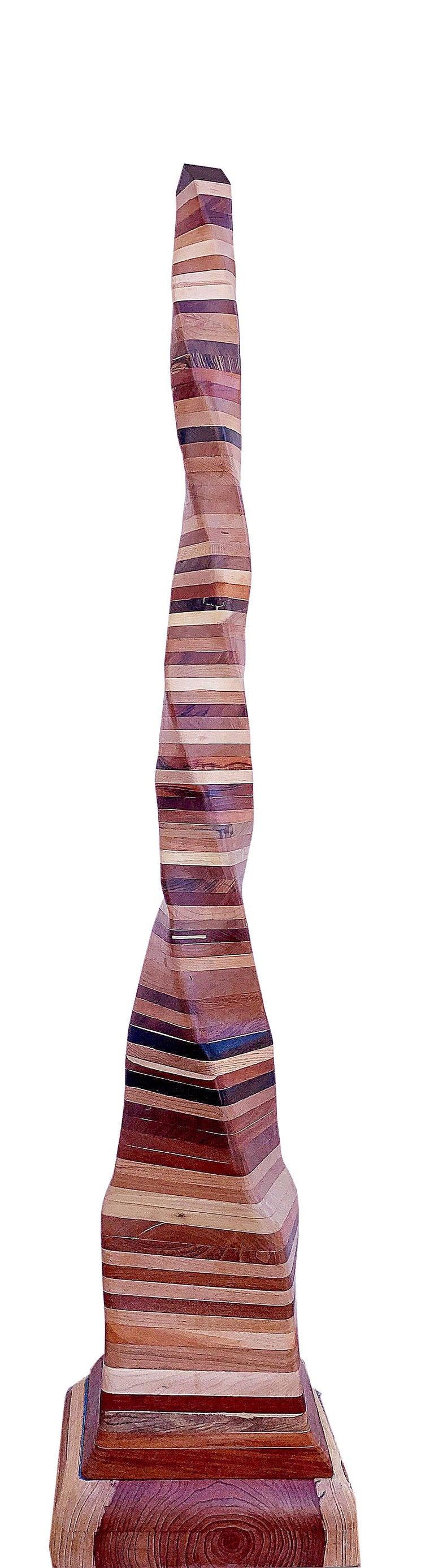 Ben Darby  Abstract Sculpture - Undulating Wood Sculpture, Untitled 2019