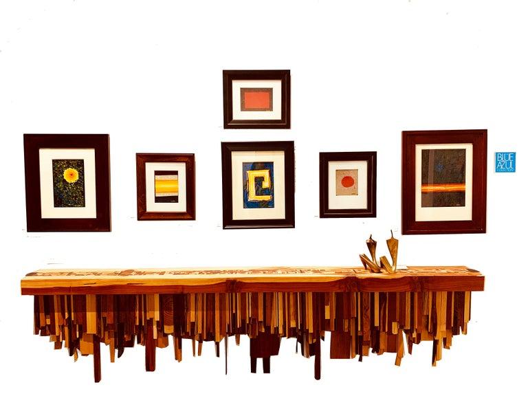 Long Mixed Wood Shelf by Ben Darby, 2019 - Modern Art by Ben Darby