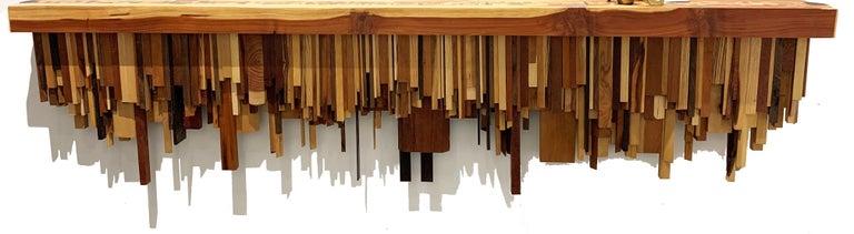 Long Mixed Wood Shelf by Ben Darby, 2019 - Art by Ben Darby