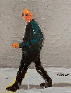 Untitled, Walking Figure on Gray