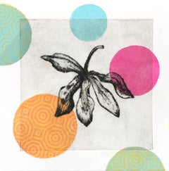 Garden Cycle, Orchideas #1, drypoint and relief print on Japanese washi paper