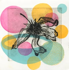 Garden Cycles, Primavera # 4, drypoint and relief print on Japanese paper