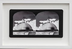 Ruin Gazing No: 026 Domes at Kibble Palace, Glasgow, framed stereoscopic card
