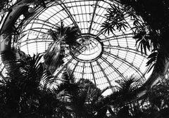 Terminus III, black and white photo on glass