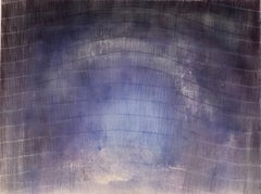 """Untitled - striped lavender"" Soft lavender undulating stripes fade into space"