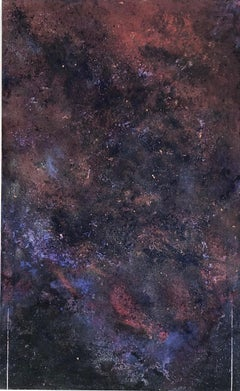 """""""Untitled"""" from the Enso Series - deep blues and purples spattered into space"""
