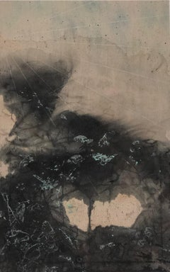 """""""Inky storm - from the Disaster Series"""" Japanese ink washes create storm-scape"""