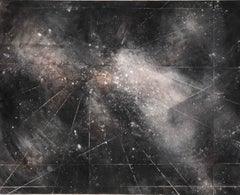 """""""Space -from the Enso Series"""" black spattered stars in deep space"""