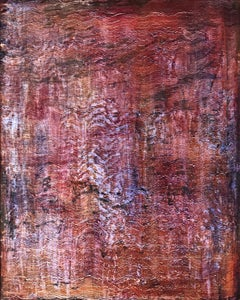 """Untitled - Pink Waves"" one of a 12 painting grid of textured paintings - pink"