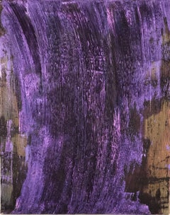 """Untitled - purple combed"" Textured colorful paintings for a grid or solo"
