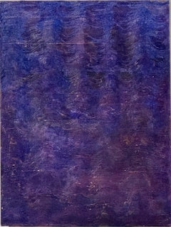 """""""Untitled"""" Purple painting textured and comber in waves of color"""