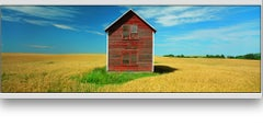 """""""Everts Township Homestead, Otter Tail Co, MN"""" colorful panoramic photograph"""