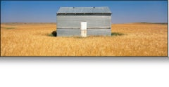 """""""Pendroy, MT -  color"""" Colorful panoramic photograph on the wide prairie big sky"""