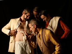 """""""Doubting Thomas"""" Photograph after Caravaggio the artists playing each character"""