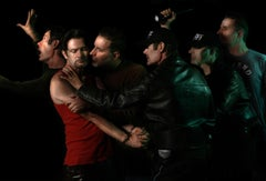 """""""Judas Kiss"""" Photograph after Caravaggio painting with artists as characters"""
